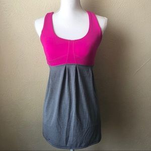 Lululemon Adjustable tank Top 2 or 4 Pink Grey